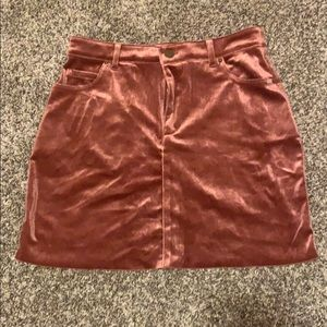 Velvet rose colored skirt
